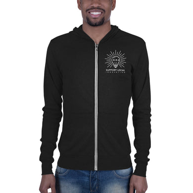 Support Local Innovation Unisex zip hoodie