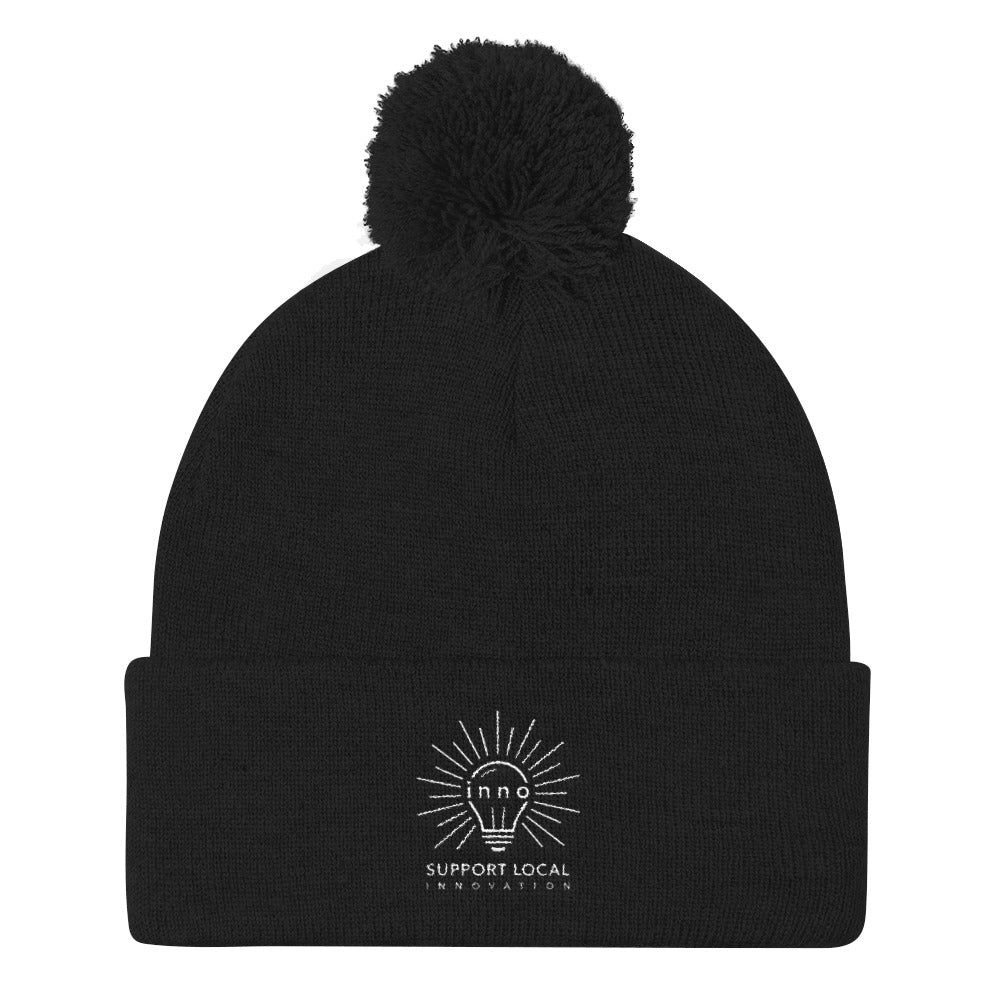 Support Local Innovation Pom Pom Knit Cap