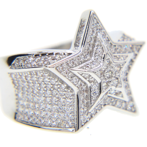 Iced Out Star Ring