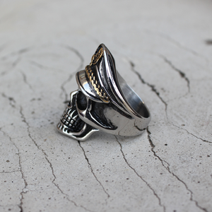 Eagle Captain Skull Ring