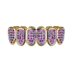 Iced Out Fuchsia Grills