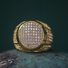 Gold Diamond Rounded Ring