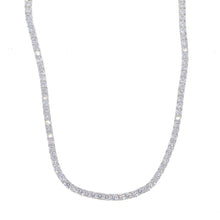 Round Cut Tennis Necklaces in White Gold