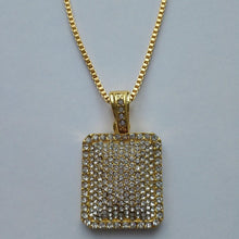 Gold Ice Cube Pendant