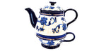 "Tee Kanne ""Tea for One"", BLAU, temp - tations - hallokindershop"