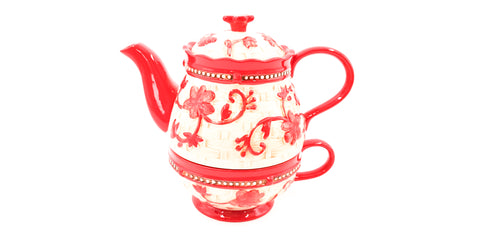 "Tee Kanne ""Tea for One"", ROT, temp - tations - hallokindershop"
