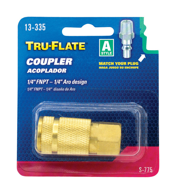 "AIR COUPLER ""A"" 1/4""FNPT 
