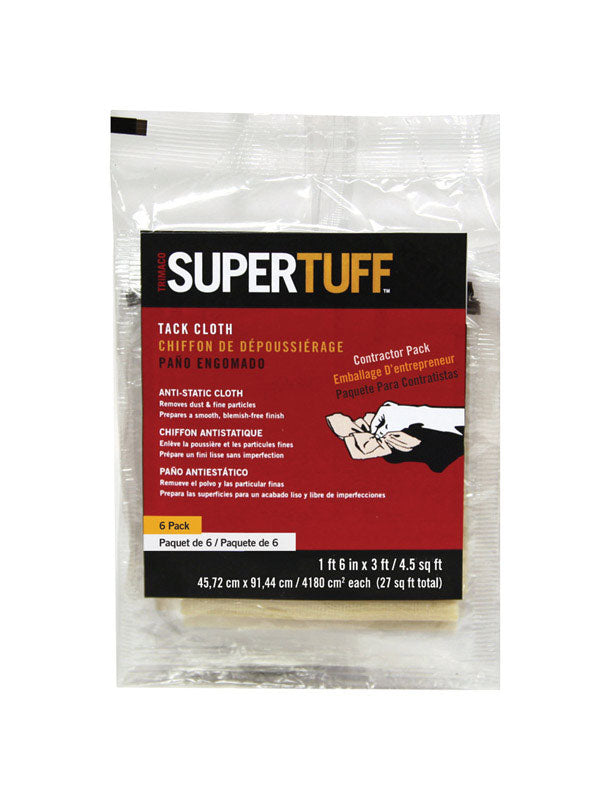 TACK CLOTH 6PK SUPERTUFF | OP NOTES OM: 1; AN2 QPP: 6; AN3 TOTAL: 6 (NO SPECIAL NOTES)