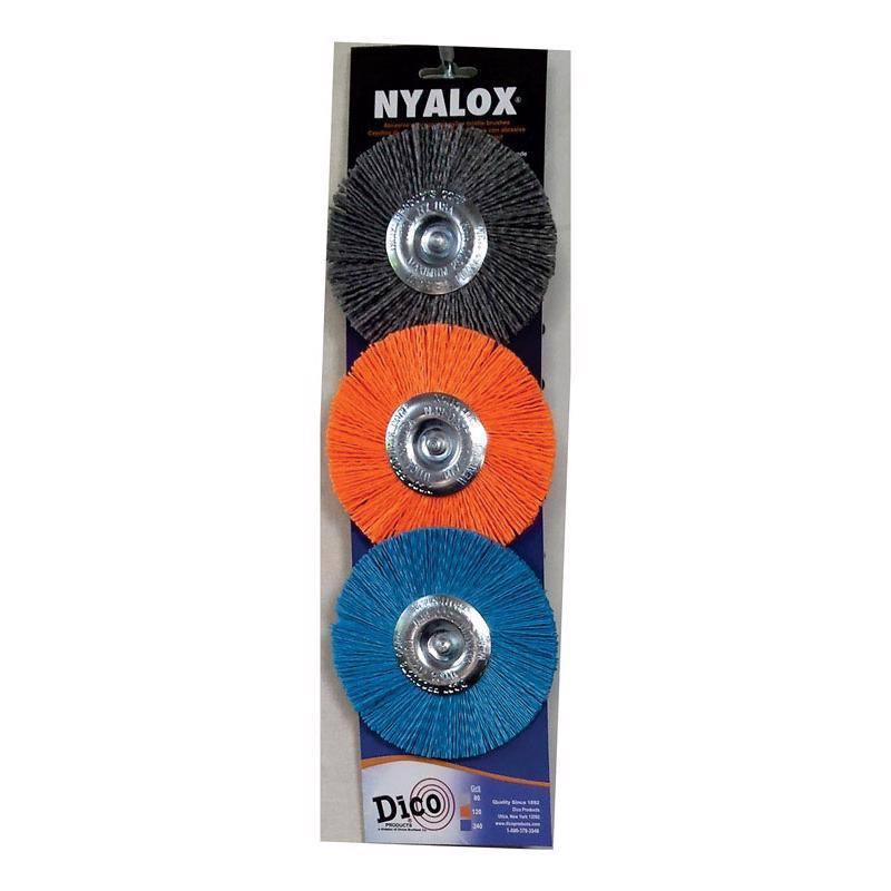 WHEEL BRUSH SET 3PK 4"