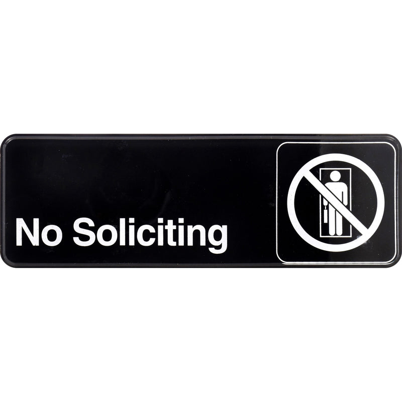 "NO SOLICITING SIGN 3""X9"" 