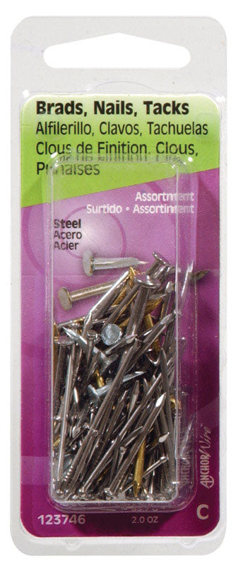 BRAD NAIL TACK ASSORT2OZ | OP NOTES OM: 6; AN2 QPP: 1; (NO SPECIAL NOTES)