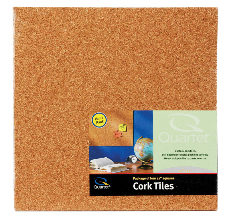 "CORK TILE LITE 12X12""PK4 