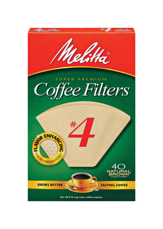 COFFEE FILTER #4BRN 40CT | OP NOTES OM: 1; AN2 QPP: 40; AN3 TOTAL: 40 (NO SPECIAL NOTES)