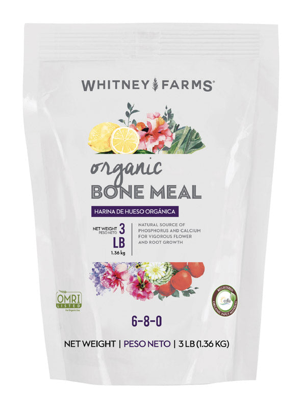 WF ORGANIC BONE MEAL 3# | OP NOTES OM: 1; (NO SPECIAL NOTES)