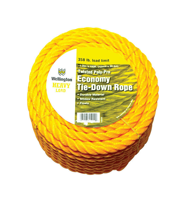 POLYPRO TWST ROPE1/2X100 | OP NOTES OM: 1; AN2 QPP: 1; (NO SPECIAL NOTES)