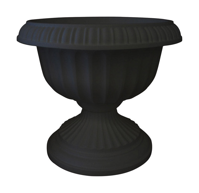 URN GRECIAN BLK 20"