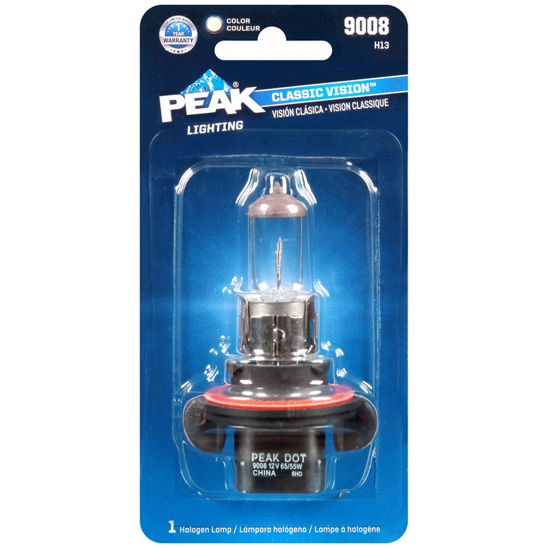 PEAK HEADLAMP 9008 H13 | OP NOTES OM: 1; AN2 QPP: 1; (NO SPECIAL NOTES)