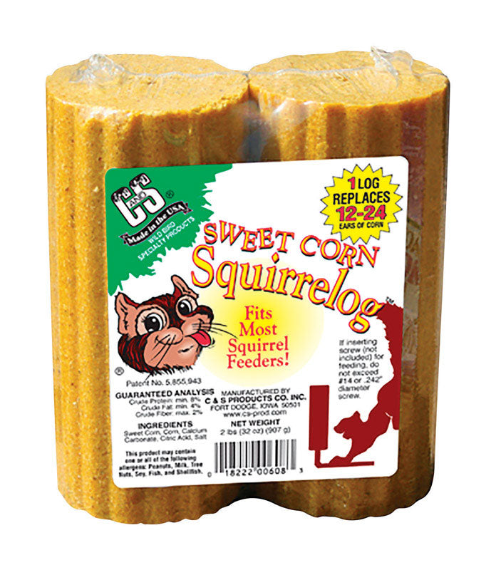 CORN SQUIRREL LOG 2/PK | OP NOTES OM: 1; AN2 QPP: 2; AN3 TOTAL: 2 (NO SPECIAL NOTES)