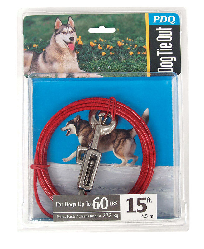 CABLE DOG TIE OUT 15'LRG | OP NOTES OM: 1; (NO SPECIAL NOTES)