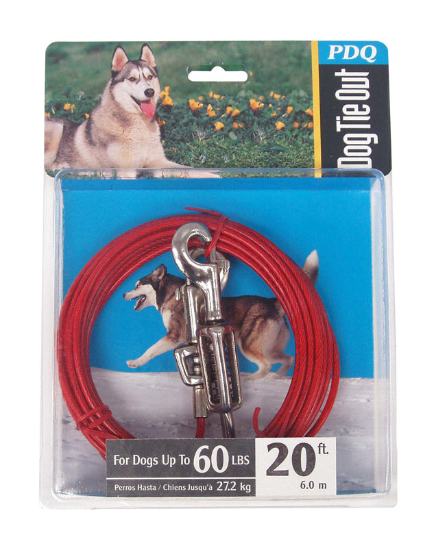 CABLE DOG TIE OUT 20'LRG | OP NOTES OM: 1; (NO SPECIAL NOTES)