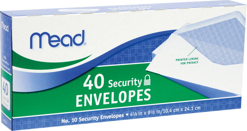 ENVELOPE SECURITY#10PK40 | OP NOTES OM: 24; AN2 QPP: 40; AN3 TOTAL: 960 (NO SPECIAL NOTES)