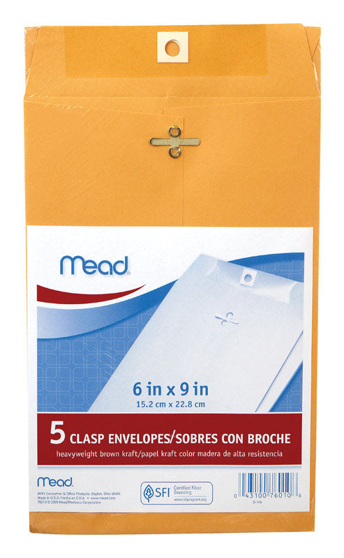 ENVELOPE MANILLA 6X9 PK5 | OP NOTES OM: 12; AN2 QPP: 5; AN3 TOTAL: 60 (NO SPECIAL NOTES)