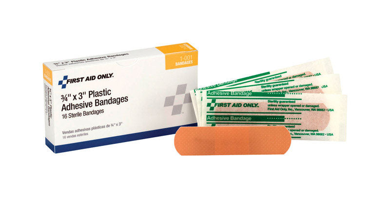 PLASTIC BANDAGE3/4X3BX16 | OP NOTES OM: 1; AN2 QPP: 16; AN3 TOTAL: 16 (NO SPECIAL NOTES)
