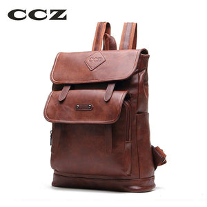 46e1fa28e9d6 CCZ 2017 New Arrival Fashion Backpacks For Men Women PU Leather Backpack  For Travel School Bag