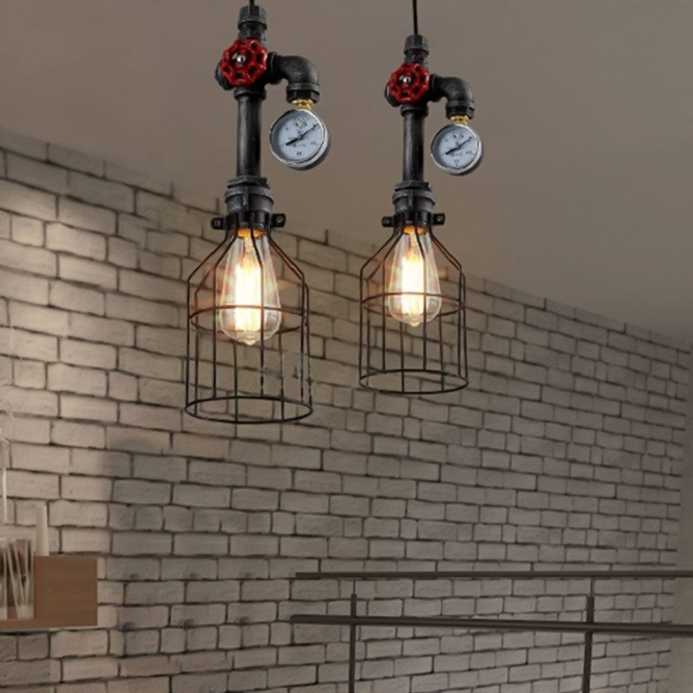 ... Water Pipe Vintage Ste&unk L& Pendant Lights Dining Room Bar Home Decoration American Industrial Loft Pendant ... & Water Pipe Vintage Steampunk Lamp Pendant Lights Dining Room Bar ...