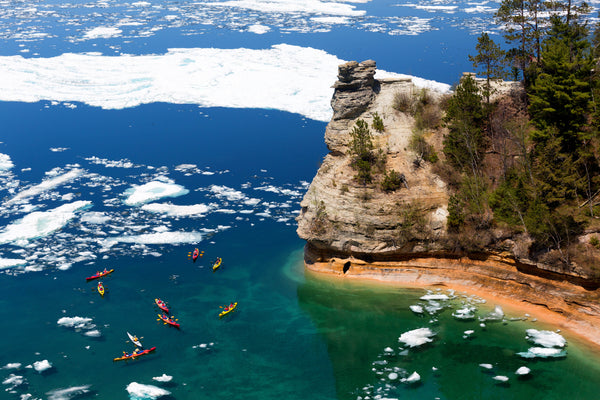 pictured rocks, national lakeshore, kayak, kayaking, Michigan, sup, paddle, paddling trips, northern, upper peninsula