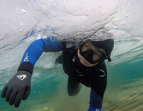 michigan, michigan overboard, ice diver, diving, lake michigan, badass, cold water