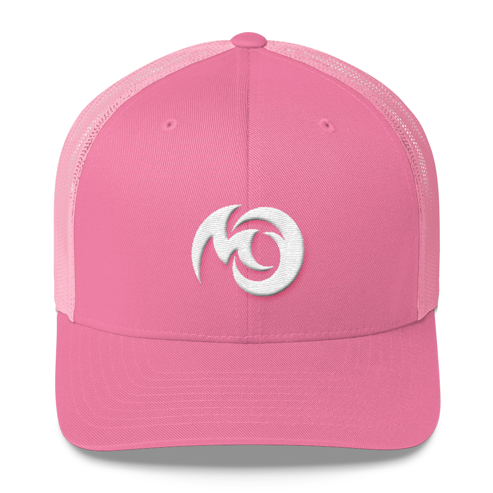 Michigan Overboard trucker hat and snapback mesh cap. A perfect accessory item for exploring or relaxing on the Michiganders boat or beach. Michigan girl hat. A pink Michigan hat for Michigan women!