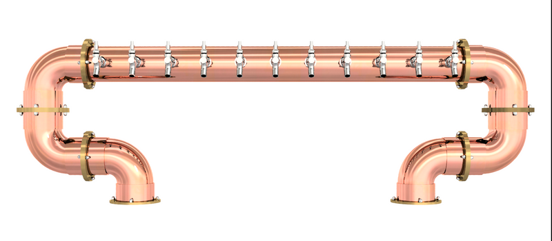"fm-draft-towers - Arcadia ""S"" Bridge 4"" - Copper -  - Retail"