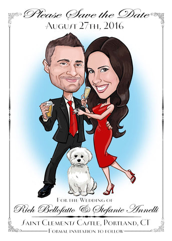 Wedding Save the Dates and Invitations - Illustrate the Date Save the Dates