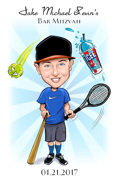 Bar / Bat / B'nai Mitzvah Caricature Artwork for Sign In Boards, Posters, and More!