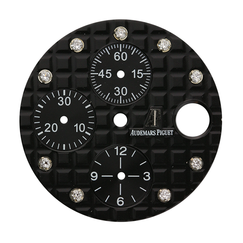 Audemars Piguet Parts Audemars Piguet 42mm Black Méga Tapisserie Custom Dial