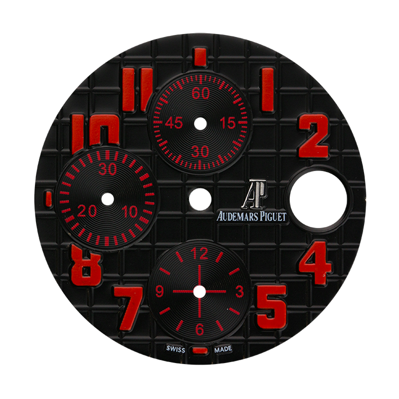 Audemars Piguet Parts Audemars Piguet 42mm Black Méga Tapisserie Pattern Custom Dial