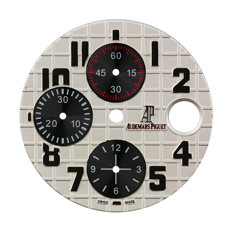 Audemars Piguet Parts Audemars Piguet 42mm Silvered Méga Tapisserie Pattern Custom Dial