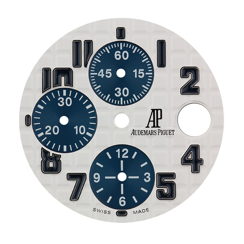 Audemars Piguet Parts Audemars Piguet 42mm White Méga Tapisserie Pattern Custom Dial