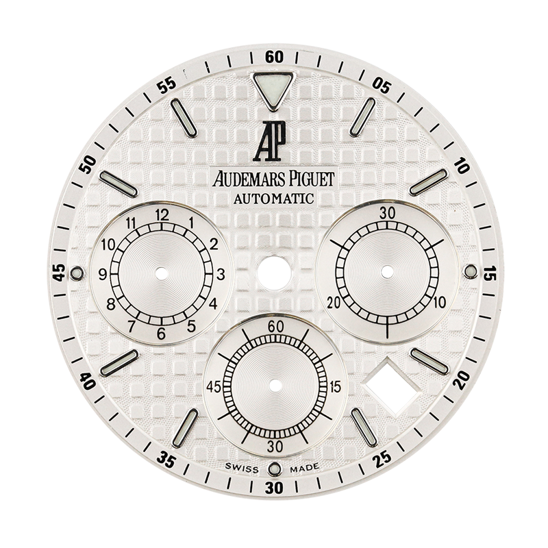 Audemars Piguet Parts Audemars Piguet Royal Oak 41mm White Méga Tapisserie Original Factory Dial