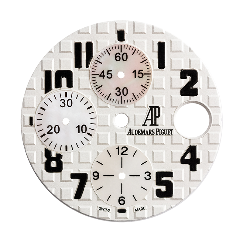 Audemars Piguet Parts Audemars Piguet Royal Oak Offshore 42mm White/Mother of Pearl Custom Dial
