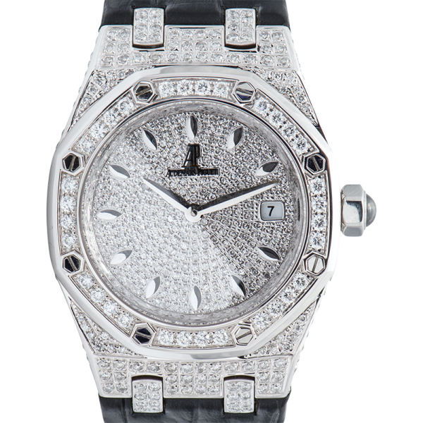 Audemars Piguet Watch Audemars Piguet Ladies Royal Oak Quartz 33mm Diamond Set 67651ST.ZZ.D002CR.01