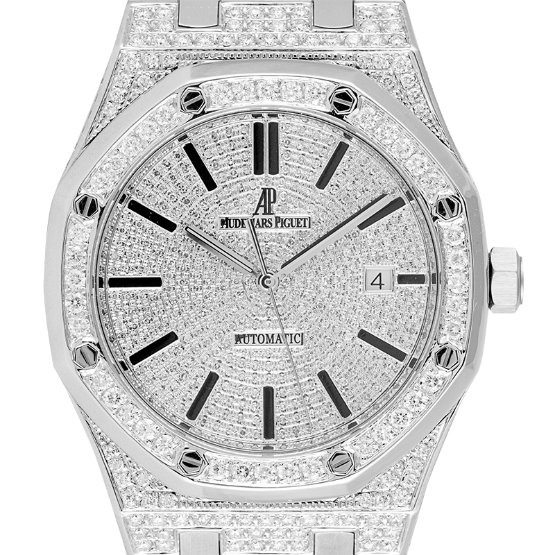 Audemars Piguet Watch Audemars Piguet Royal Oak Full Diamond Set Custom Watch 15400ST.OO.1220ST.02