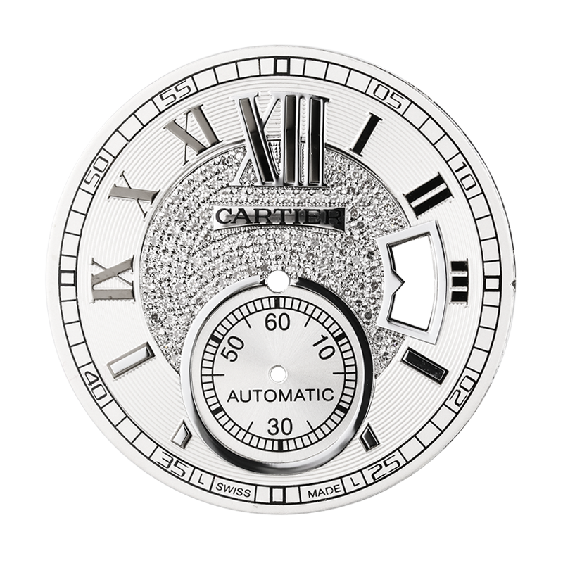 Cartier Parts Calibre de Cartier Diamond Pavé Custom Dial