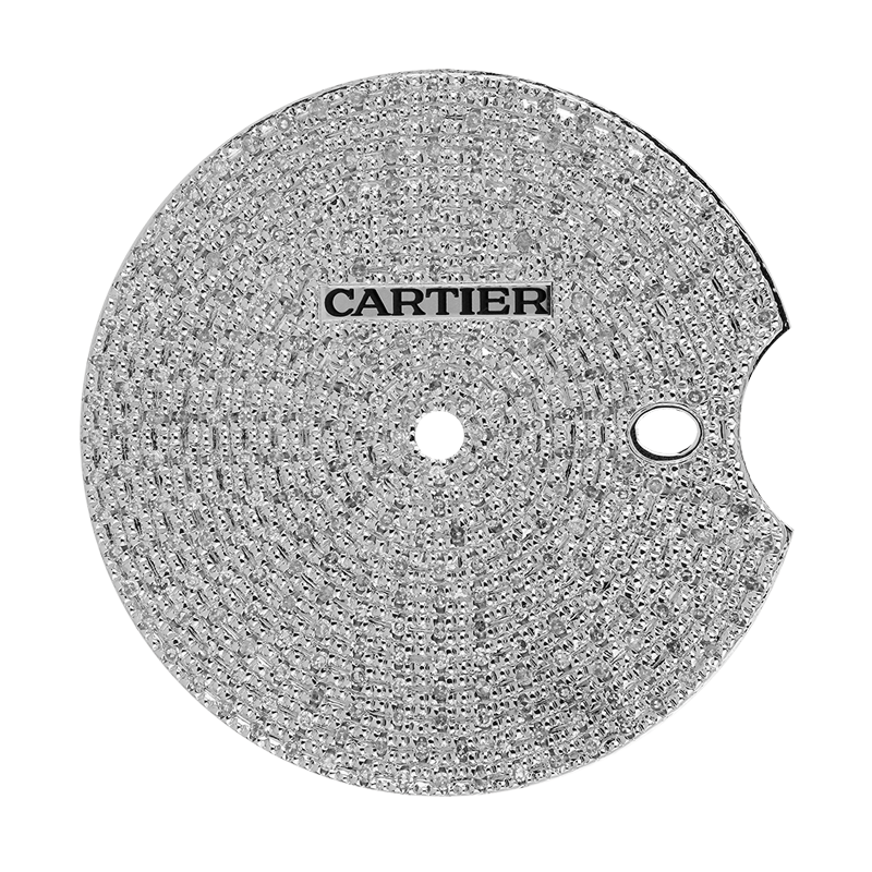 Cartier Parts Cartier Ballon Bleu 42mm Diamond Pavé Custom Dial