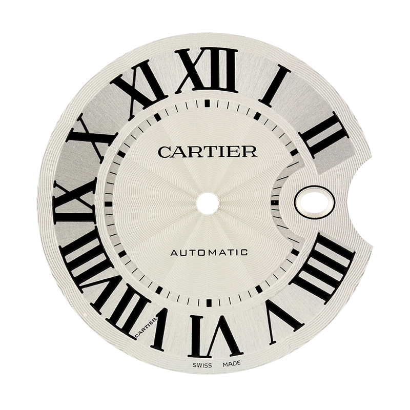 Cartier Parts Cartier Ballon Bleu 42mm White/Black Roman Numeral Original Factory Dial