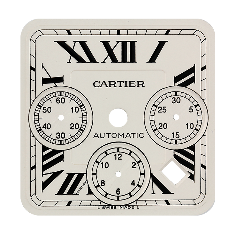 Cartier Parts Cartier Santos 100 Chrono XL Custom Dial