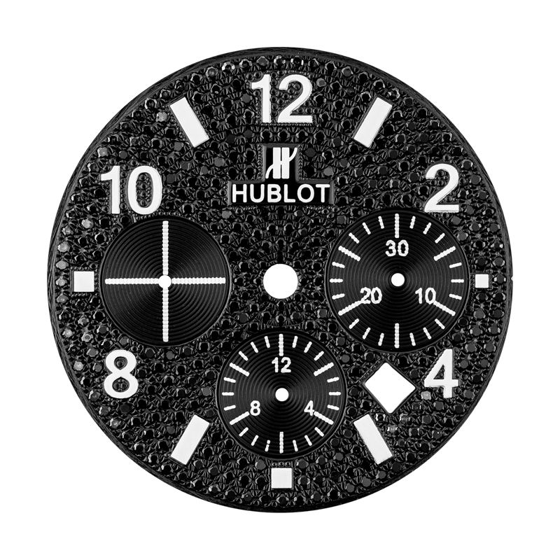 Hublot Parts Hublot Big Bang 44mm Black Diamond Pave Custom Dial