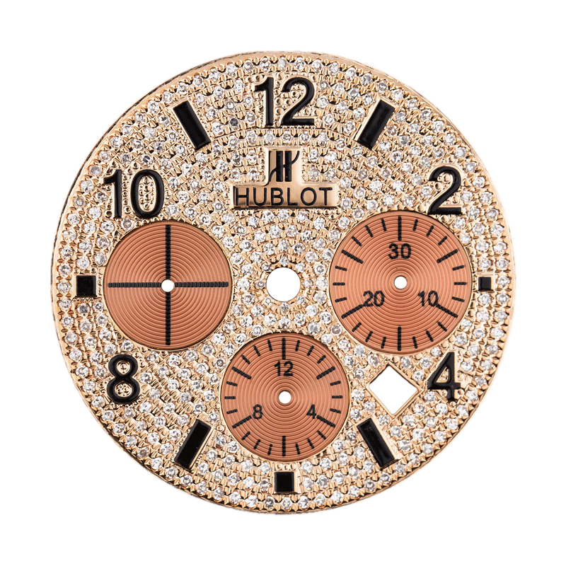 Hublot Parts Hublot Big Bang 44mm Rose Gold Diamond Pave Custom Dial