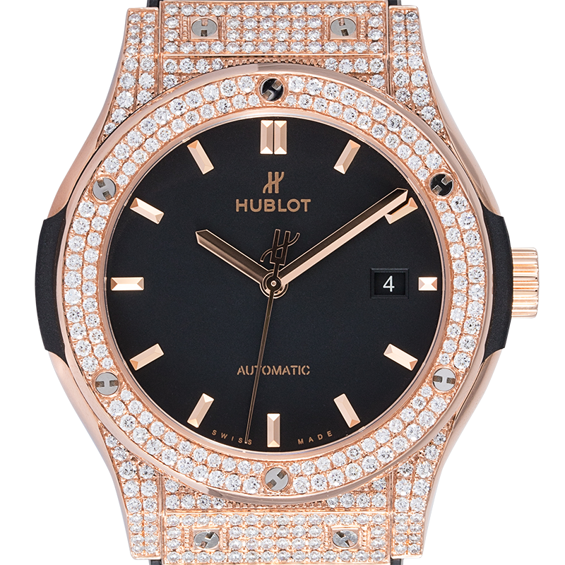 Hublot Watch Hublot Classic Fusion 42mm Rose Gold Custom Diamond Set 542.OX.1181.LR